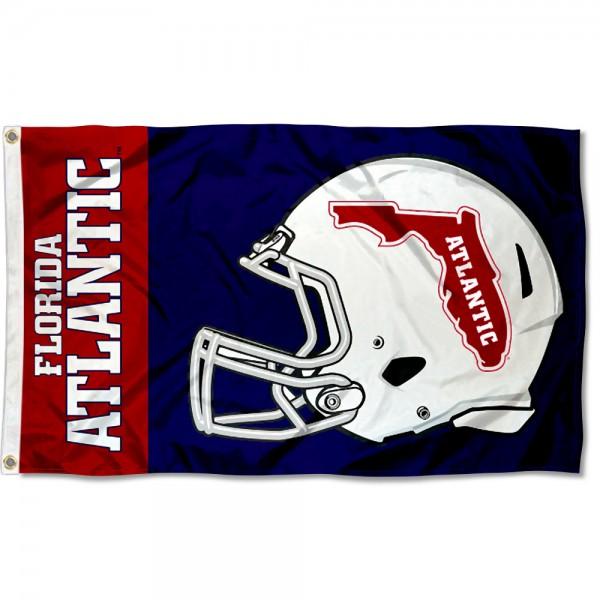 FAU Owls Helmet Flag
