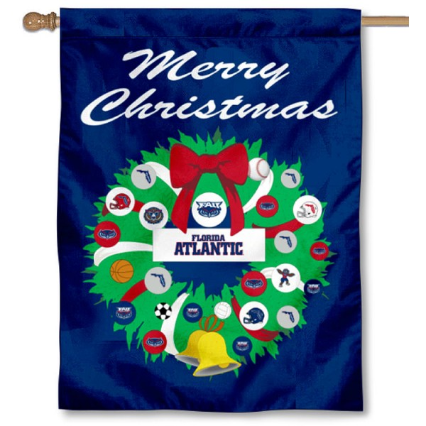 FAU Owls Merry Christmas Flag