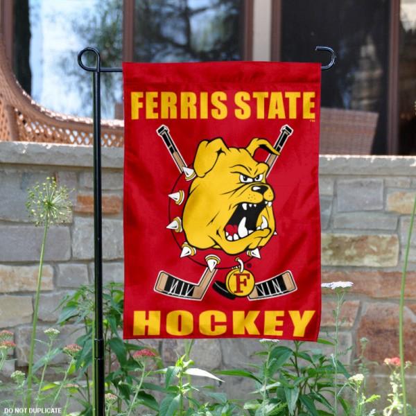 Ferris State Bulldogs Hockey Garden Flag