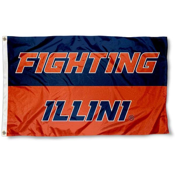 FIGHTING ILLINI 3x5 Logo Flag