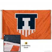 Fighting Illini Appliqued Nylon Flag