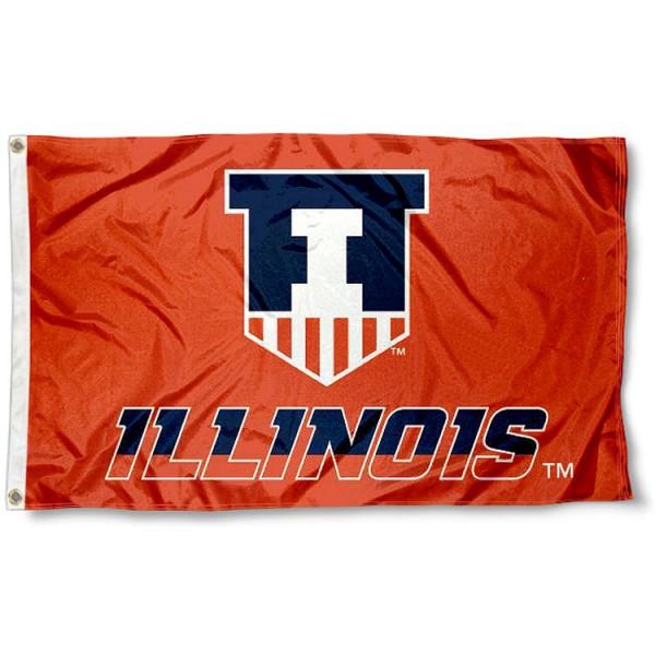 Fighting Illini Victory Shield Logo Flag