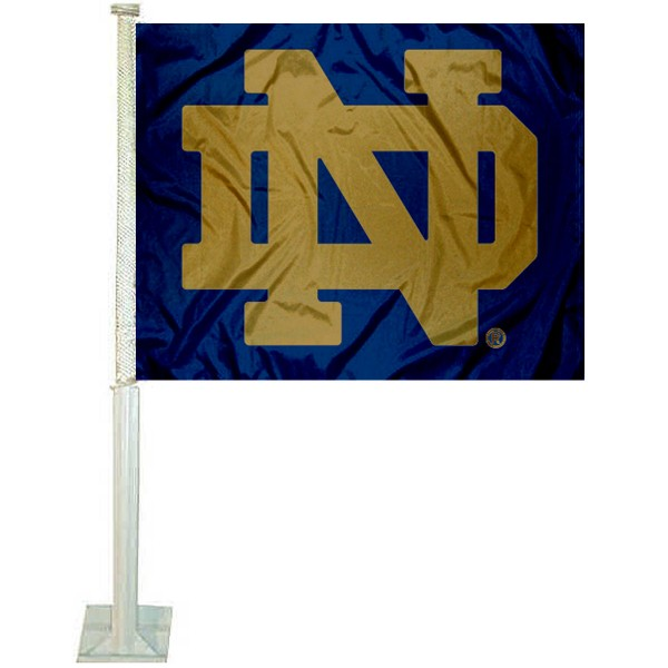 Fighting Irish Car Flag