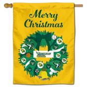 Fitchburg Falcons Christmas Holiday House Flag