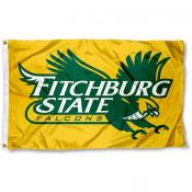 Fitchburg Falcons Gold Logo Flag