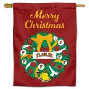 Flagler College Saints Christmas Holiday House Flag