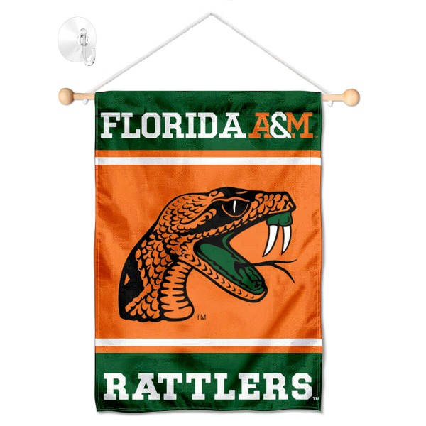 Florida A&M Rattlers Window Hanging Banner with Suction Cup