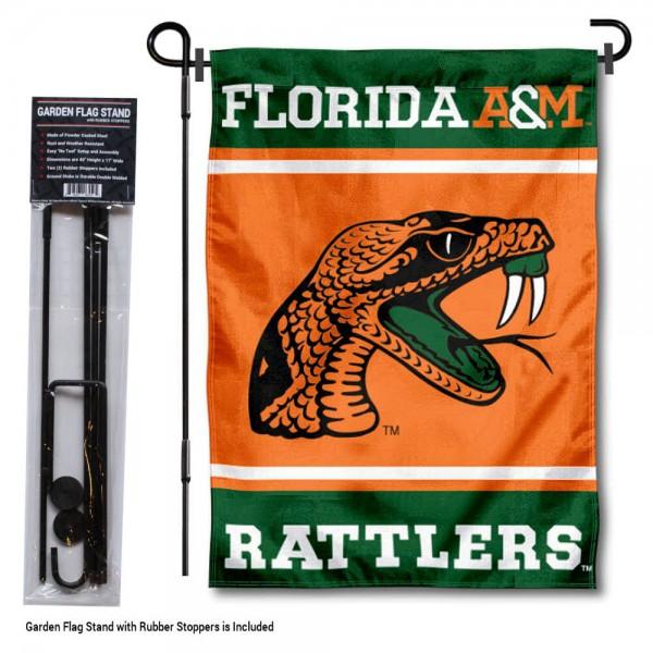 Florida A&M University Garden Flag and Yard Pole Holder Set