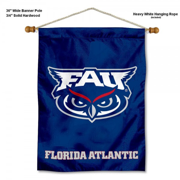 Florida Atlantic Owls Banner with Pole