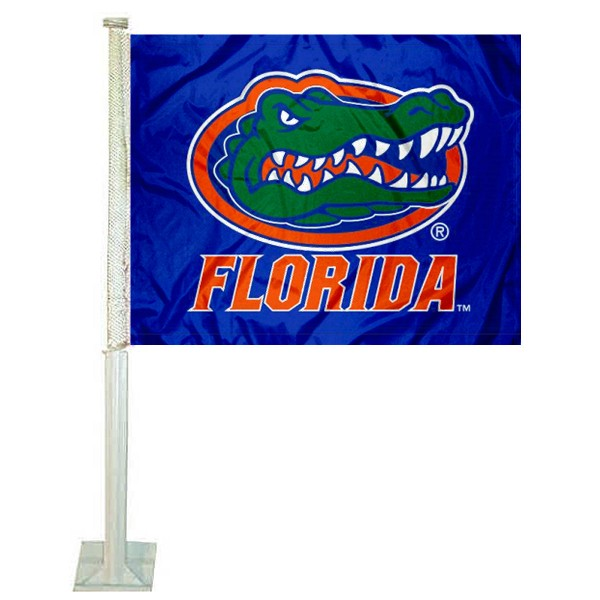 Florida Gators Blue Car Flag