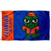 Florida Gators Tokyodachi Cartoon Mascot Flag