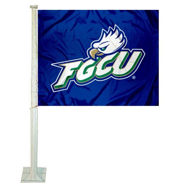 Florida Gulf Coast Eagles Car Flag