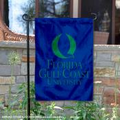 Florida Gulf Coast Eagles Insignia Double Sided Garden Flag