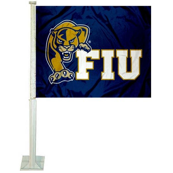 Florida International FIU Golden Panthers Car Flag