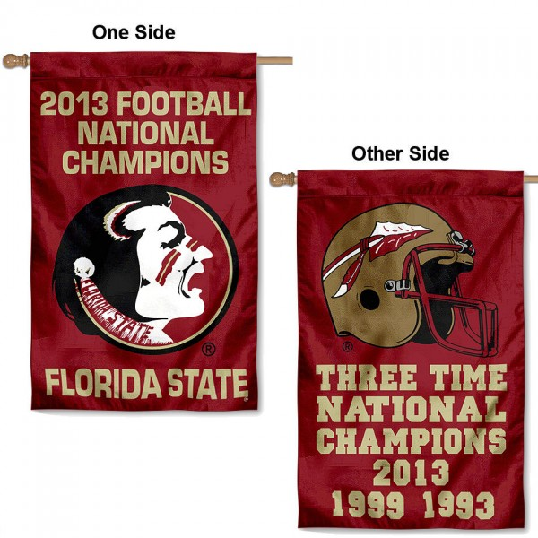 Florida State 3 Time Champions House Flag