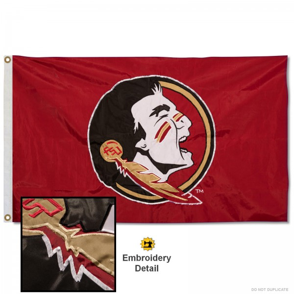 Florida State Seminoles Appliqued Nylon Flag