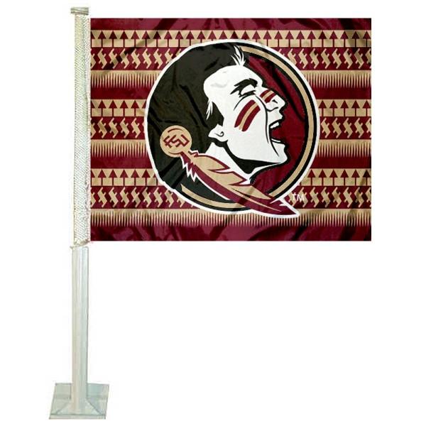 Florida State Seminoles Chevron Car Flag