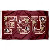 Florida State Seminoles Collage 3x5 Foot Flag