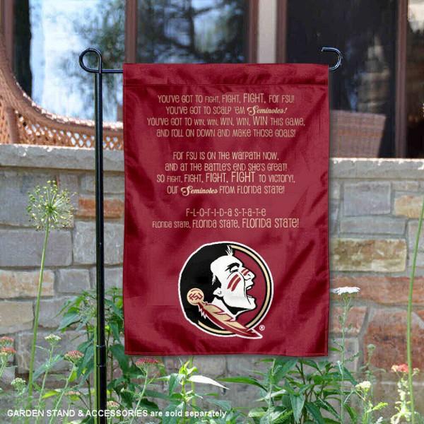 Florida State Seminoles Fight Song Lyrics Garden Banner