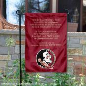 Florida State Seminoles Fight Song Lyrics Garden Banner