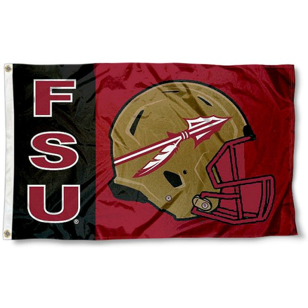 Florida State Seminoles Football Helmet Flag