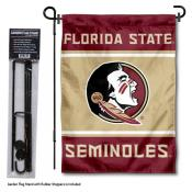 Florida State Seminoles Garden Flag and Holder
