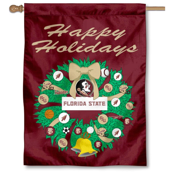 Florida State Seminoles Holiday House Flag