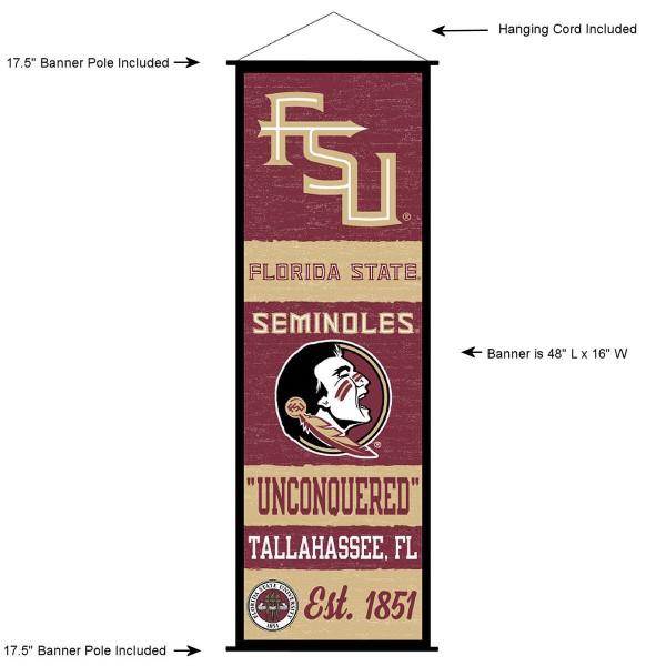 Florida State Seminoles Wall Banner and Door Scroll