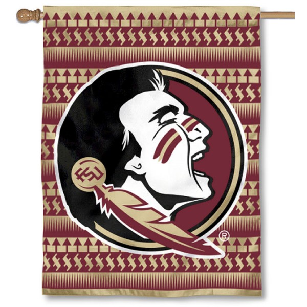Florida State University Chevron Logo House Flag