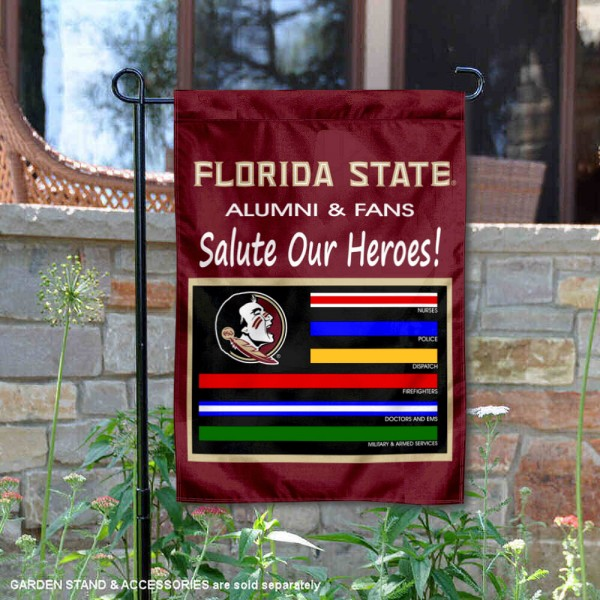 Florida State University Salute Our Heroes Double Sided Garden Flag