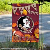 Florida State University Seminoles Fall Leaves Football Double Sided Garden Banner