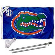 Florida UF Gators Flag and Bracket Flagpole Kit