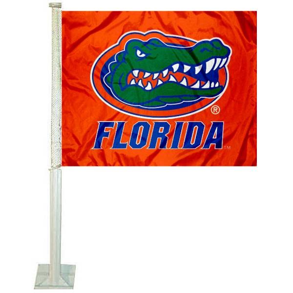 Florida UF Gators Orange Car Flag