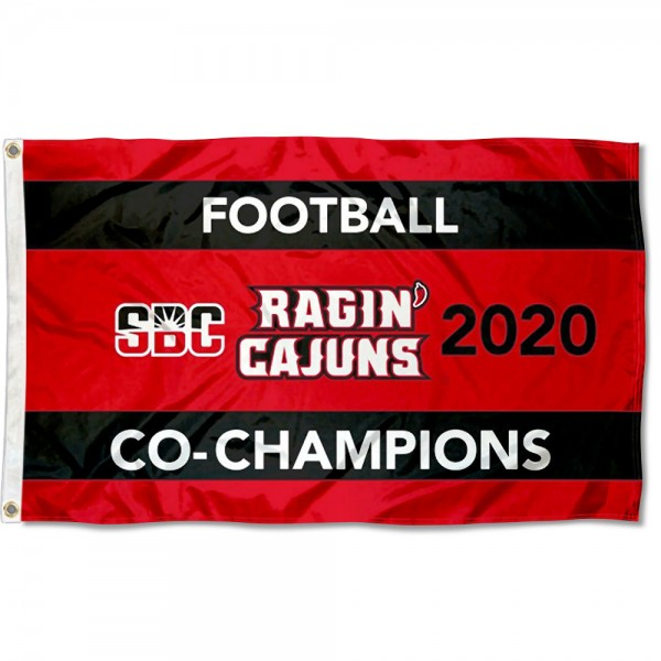 Football 2020 Conference Champions UL Lafayette Ragin Cajuns 3x5 Foot Flag