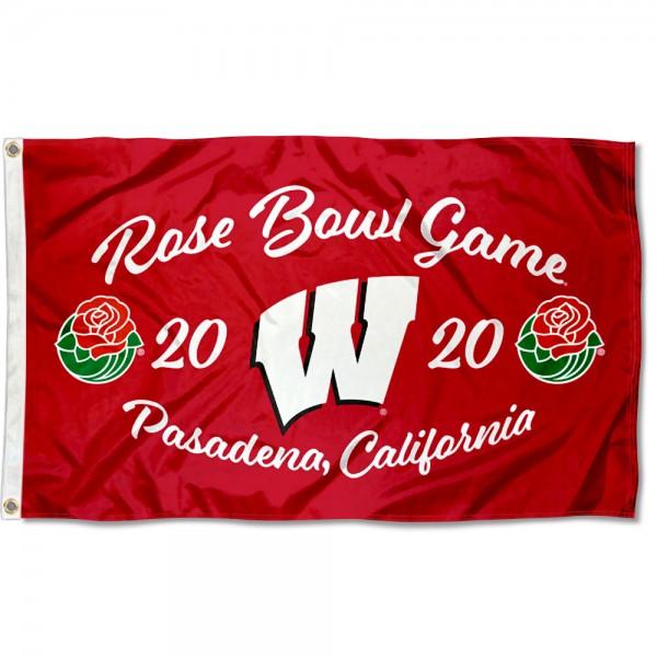 Football 2020 Rose Bowl Game UW Badgers 3x5 Foot Flag