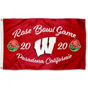 Football 2020 Rose Bowl Game UW Badgers 3x5 Foot Flag