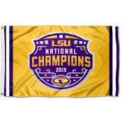 Football National Champions Jersey Louisiana State LSU Tigers 3x5 Foot Flag