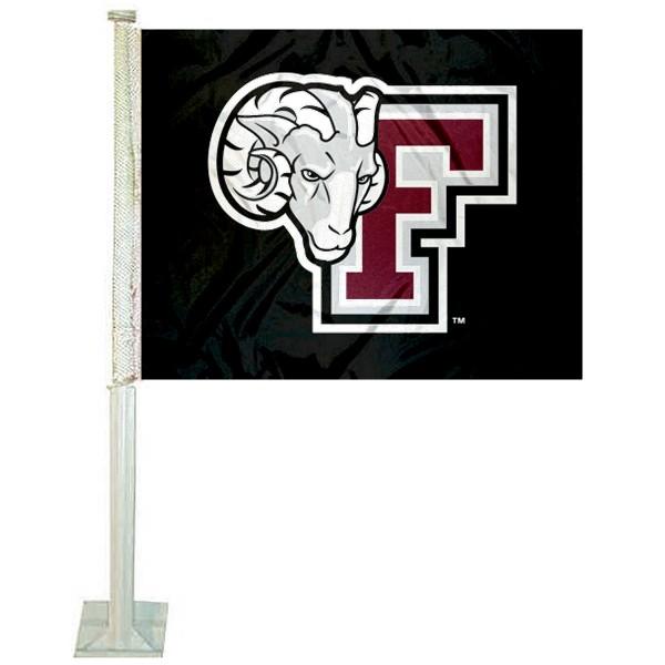 Fordham Rams Car Flag