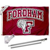 Fordham Rams Logo Flag and Bracket Flagpole Kit