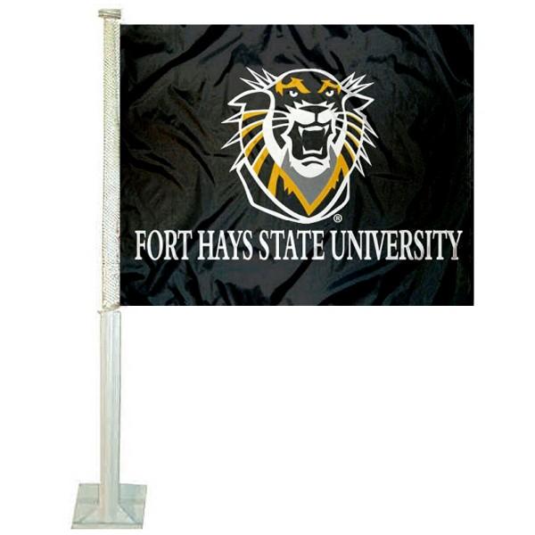 Fort Hays State Tigers FHSU Car Flag
