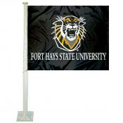 Fort Hays State Tigers FHSU Car Flag