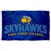 Fort Lewis Skyhawks Logo Flag