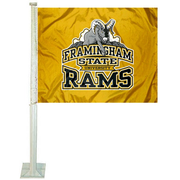 Framingham State Rams Car Flag