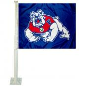 Fresno State Bulldogs Blue Car Flag