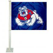 Fresno State Bulldogs Blue Car Flag