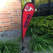 Fresno State Bulldogs Mini Teardrop Garden Flag