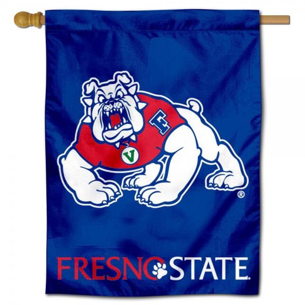 Fresno State FSU Bulldogs House Flag