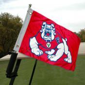 Fresno State Golf Cart Flag