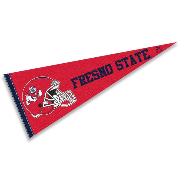 Fresno State University Football Helmet Pennant