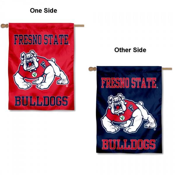 Fresno State University Logo House Flag